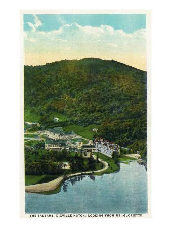 Dixville Notch, New Hampshire - Aerial View of the Balsams from Mt. Gloriette, c.1921