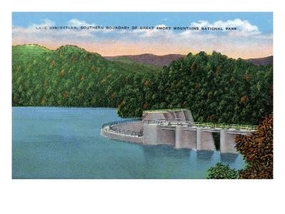 North Carolina - View of Lake Santeetlah Near Great Smoky Mts. Nat'l Park Southern Boundary, c.1944