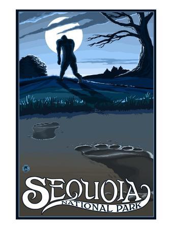Sequoia Nat'l Park - Bigfoot - Lp Poster, c.2009