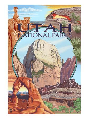 Utah National Parks - Zion in Center, c.2009