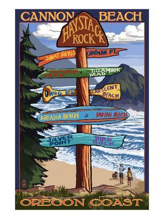 Cannon Beach, Oregon Destinations Sign, c.2009