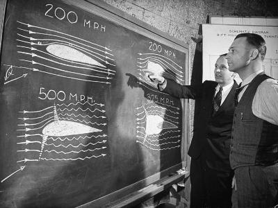 Engineers Studying Testing Results at the Langley Air Base Field