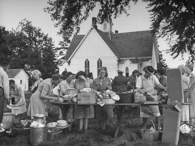 Women Preparing for the Church Picnic