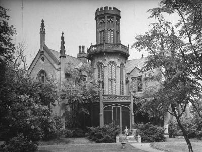 Exterior View of Gothic-Inspired House in the Hudson River Valley