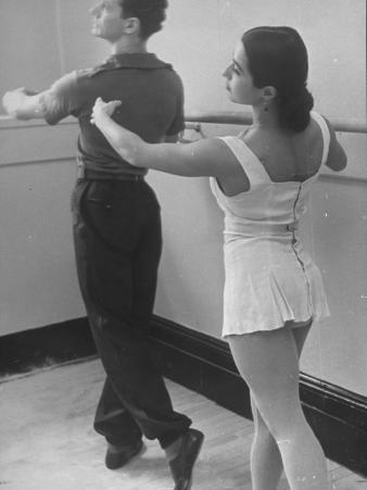 Dancers at George Balanchine's School of American Ballet During Rehearsal