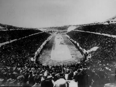 Panathenian Stadium During Olympic Games