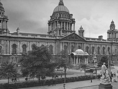 City Hall in Belfast Taking Up Almost the Whole One Side of Donegall Square