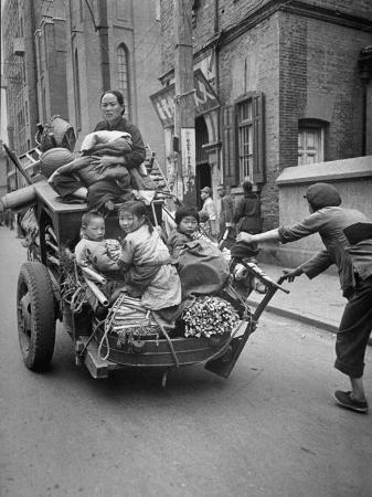 Family Fleeing Shanghai