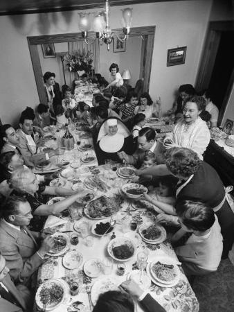 Festive Spread Through Dining Room at La Falce Family Reunion