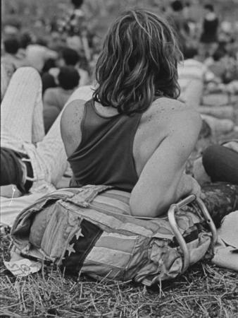 Hippies at Woodstock Music Festival