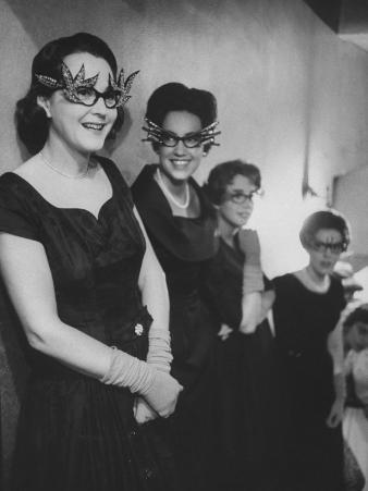 Women Wearing Fancy Eyeglasses Worn at St. Luke's Fashion Show