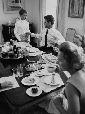 Attorney General Robert F. Kennedy and His Family Sharing Breakfast