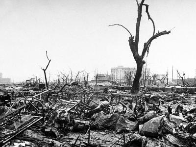 Hiroshima in Ruins Following the Atomic Bomb, Dropped at End of WWII