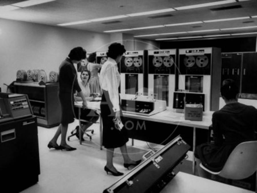 Women Working Ibm Computers in an Office
