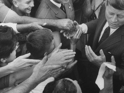 John F. Kennedy During His Campaign Tour