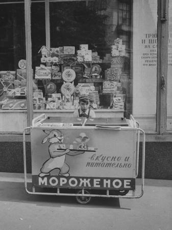 Young Boy Selling Icecream