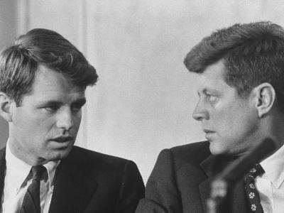 Senators Robert and John F. Kennedy, During a Senate Comm. Hearing Regarding the Kohler Strike