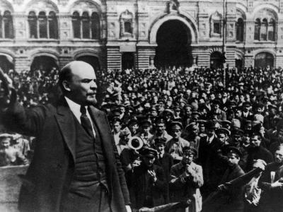 Vladimir Ilich Lenin Speaking to Troops in Red Square