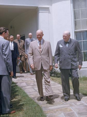 Dwight Eisenhower and Winston Churchill