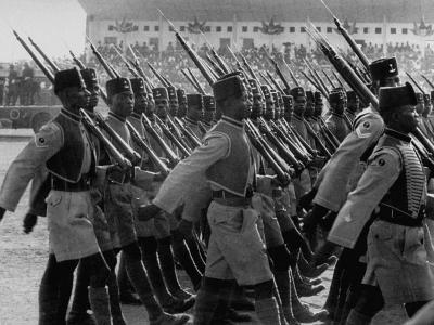 Gold Coast Soldiers Marching in a Parade During the Independence Celebration