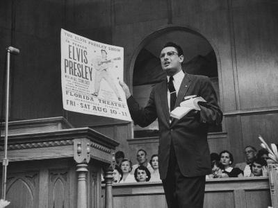 Baptist Preacher Robert Gray Denouncing Singer Elvis Presley During His Sermon