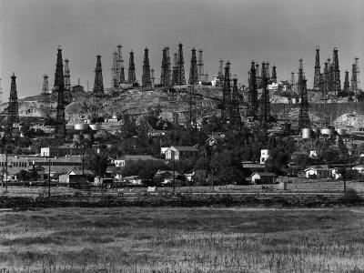 Oil Wells on Signal Hill, California. 1947