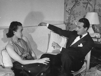 Count and Countess Emanuele Borromeo D'Adda, Relaxing in their Home in Rome