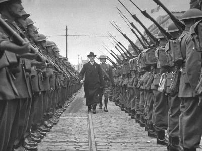 Premier Eamon De Valera, Inspecting the Guard of Honour Outside the Post Office in O'Connell Street