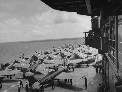 "Planes on Flight Deck of Aircraft Carrier ""Enterprise"""