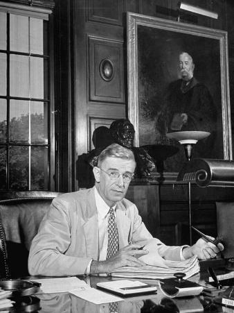 Portrait of Dr. Vannevar Bush of Carnegie Inst., Sitting in His Office