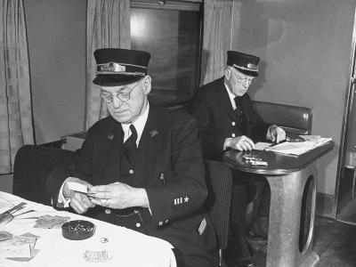 Conductors Working on the Rock Island Railroad