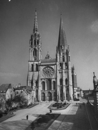 Exterior View of Chartres Cathedral