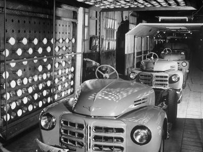 Japanese Cars on Assembly Line at Toyota Motors Plant