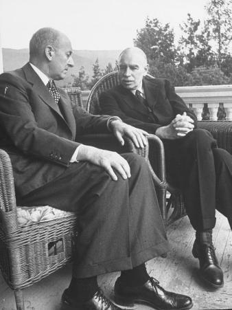 US Treasury Sec. Henry Morgenthau Jr. and British Economist John Maynard Keynes