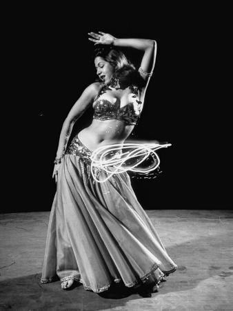 Egyptian Dancer Samia Gamal, Thrusting Sidewise to Make a Lassolike Pattern