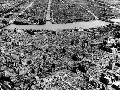 Ruins of Hiroshima after the Atomic Bomb Blast