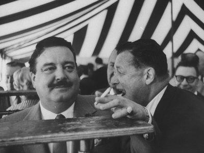 Toots Shor and Jackie Gleason at Ground Breaking Ceremony for His New Restaraunt