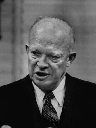 President Dwight D. Eisenhower Answering Questions at a Press Conference