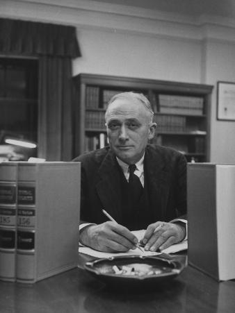 Supreme Court Justice John Marshall Harlan Sitting in His Office