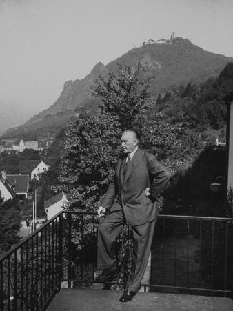 German Konrad Adenauer, During His Pre-Election Campaigning