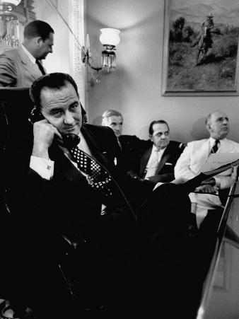 Minority Leader Lyndon B. Johnson on the Telephone