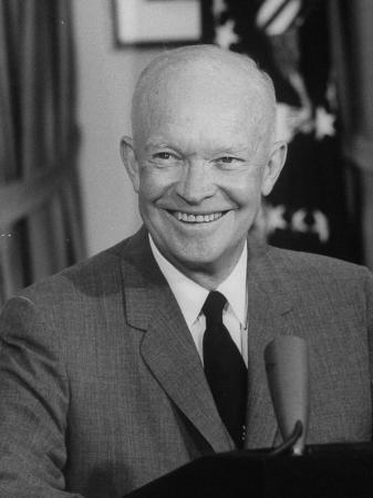 President Dwight D. Eisenhower, Making TV Speech on Necessity for Labor Reform Legislation