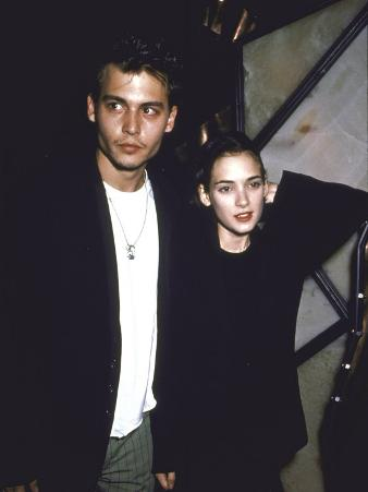 Actors Johnny Depp and Winona Ryder