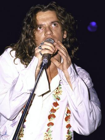 Musician Michael Hutchence of Rock Group Inxs Performing