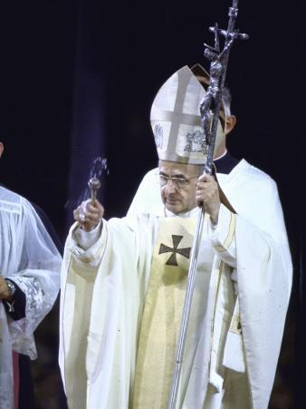 Pope Paul Vi Giving Mass and Sermon of Peace at Yankee Stadium During Historic Visit