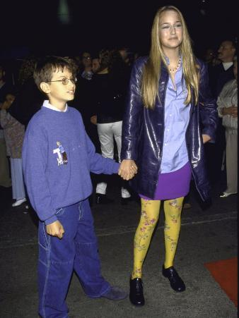"""Actress Leelee Sobieski and Brother Robie at Cirque De Soleil's """"Dralion"""""""