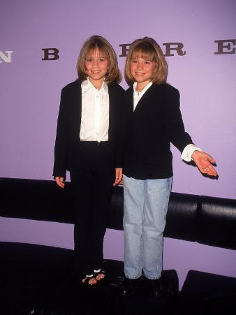 Twin Actresses Mary Kate and Ashley Olsen at the John Barrett Salon