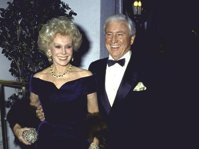 Actress Eva Gabor and Television Personality Merv Griffin