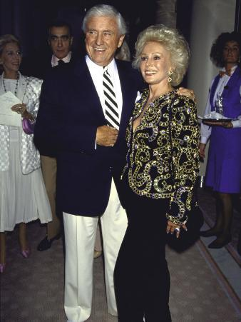 Television Personality Merv Griffin and Actress Eva Gabor