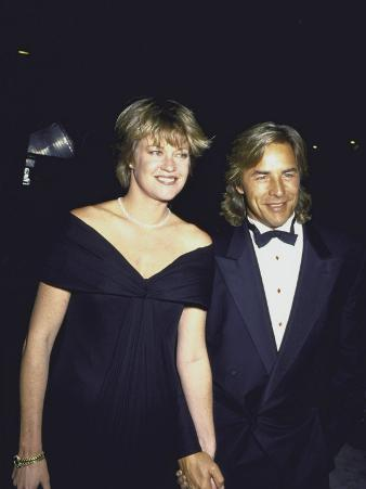 Married Actors Melanie Griffith and Don Johnson at Golden Globe Awards